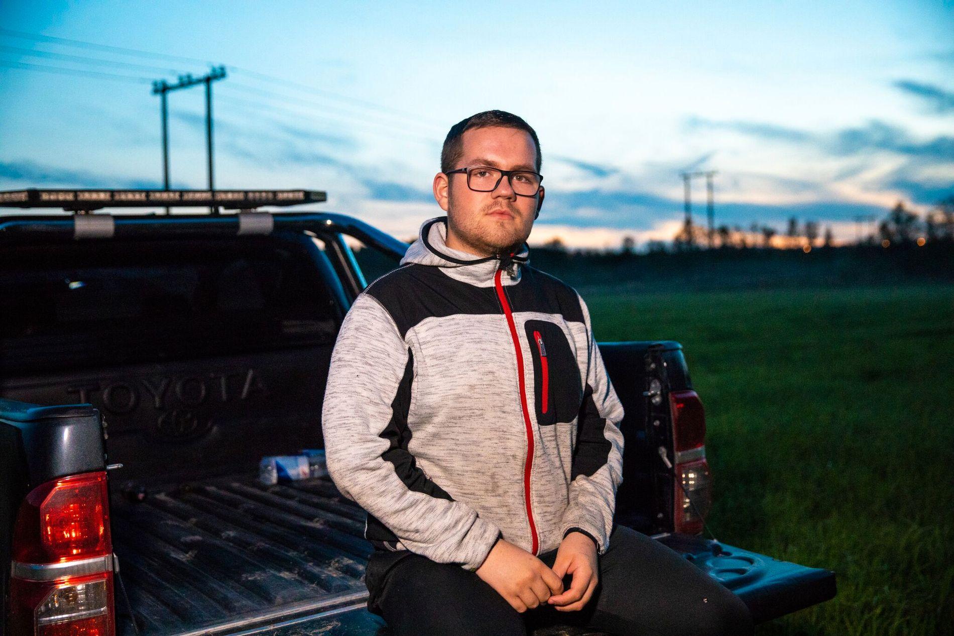 MOTSTAND:  Håkon Haldorsen (20) vil ikke gi opp kampen for at Finnmark skal slippe tvangssammenslåingen med Troms.