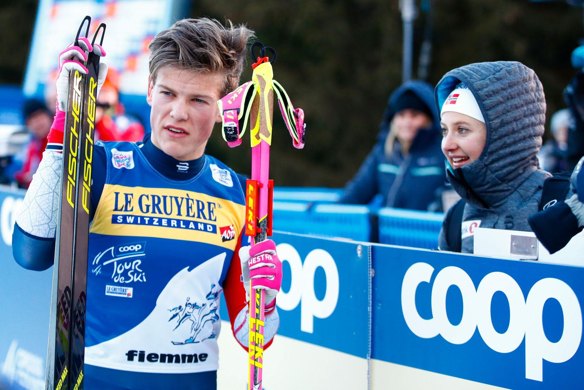 VINNERE: Johannes Høsflot Klæbo og Ingvild Flugstad Østberg vant begge Tour de Ski, etter å ha dominert etappeløpet.