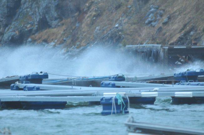 UVÆR: Årdal i Sogn og Fjordane ble isolert da ekstremværet Dagmar veltet inn over landet i 2011.