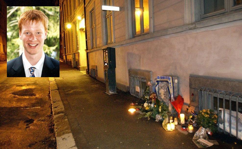 ÅSTEDET: Her, i Nordahl Bruns gate, ble Egil Tostrup Bråten brutalt stukket ned og drept. En nå 32-årig mann har nå tilstått drapet.