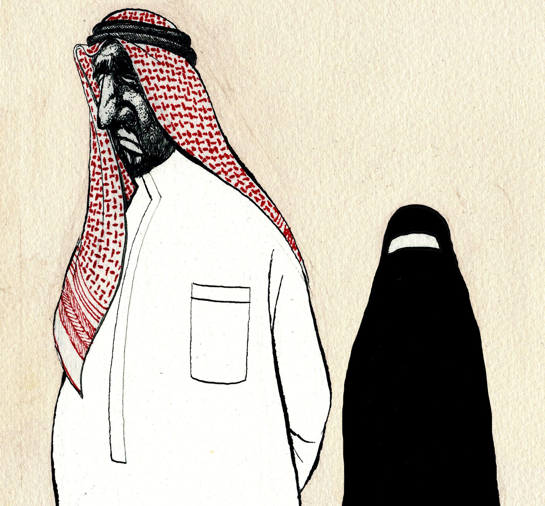 I SKYGGEN: Saudiske kvinner er prisgitt en mann.