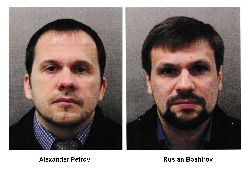 STÅR DE BAK ANGREPET? Alexander Petrov og Ruslan Boshirov. Er de skyldige? Ja, mener Vladimir Putin. Nei, sier de selv.