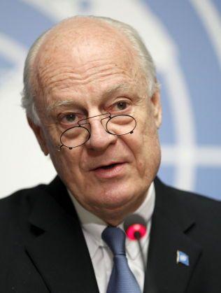 OPTIMIST: FNs spesialutsending for Syria Staffan de Mistura.