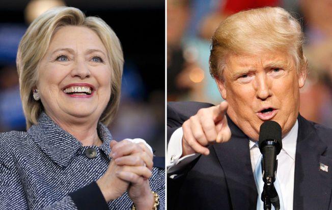 PÅ TOPPEN: Hillary Clinton og Donald Trump fortsetter sin seiersgang for hvert sitt parti.