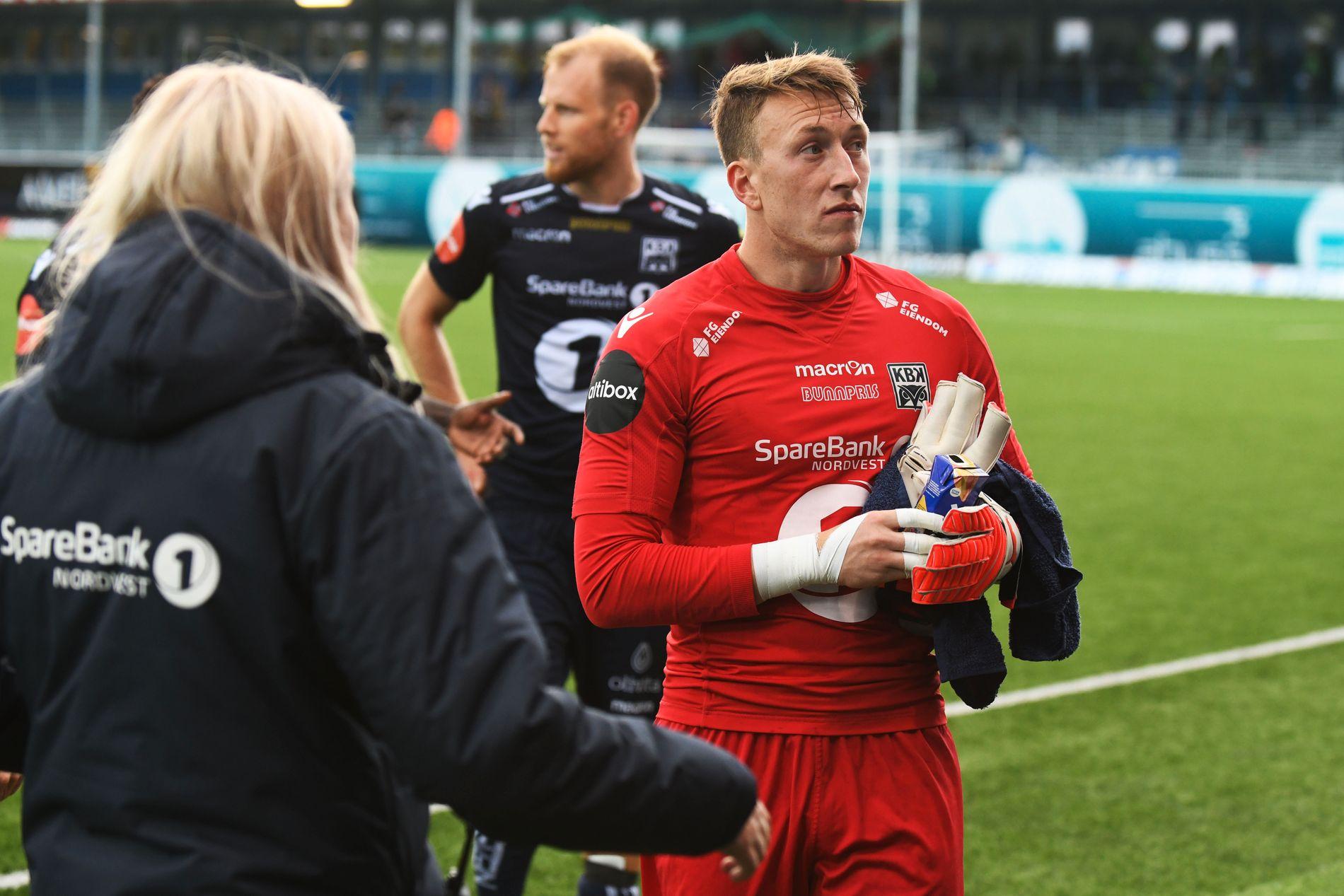 BANENS BESTE: Sean Mcdermott sto en kjempekamp for Kristiansund mot Odd.
