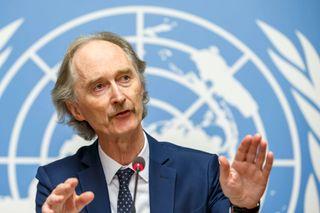 BEKYMRET: Geir O. Pedersen er FNs spesialutsending til Syria. Han snakket til FNs Sikkerhetsråds medlemmer onsdag. – Situasjonen blir farligere og situasjonen for hundretusener av sivile blir stadig vanskeligere, sier Pedersen,