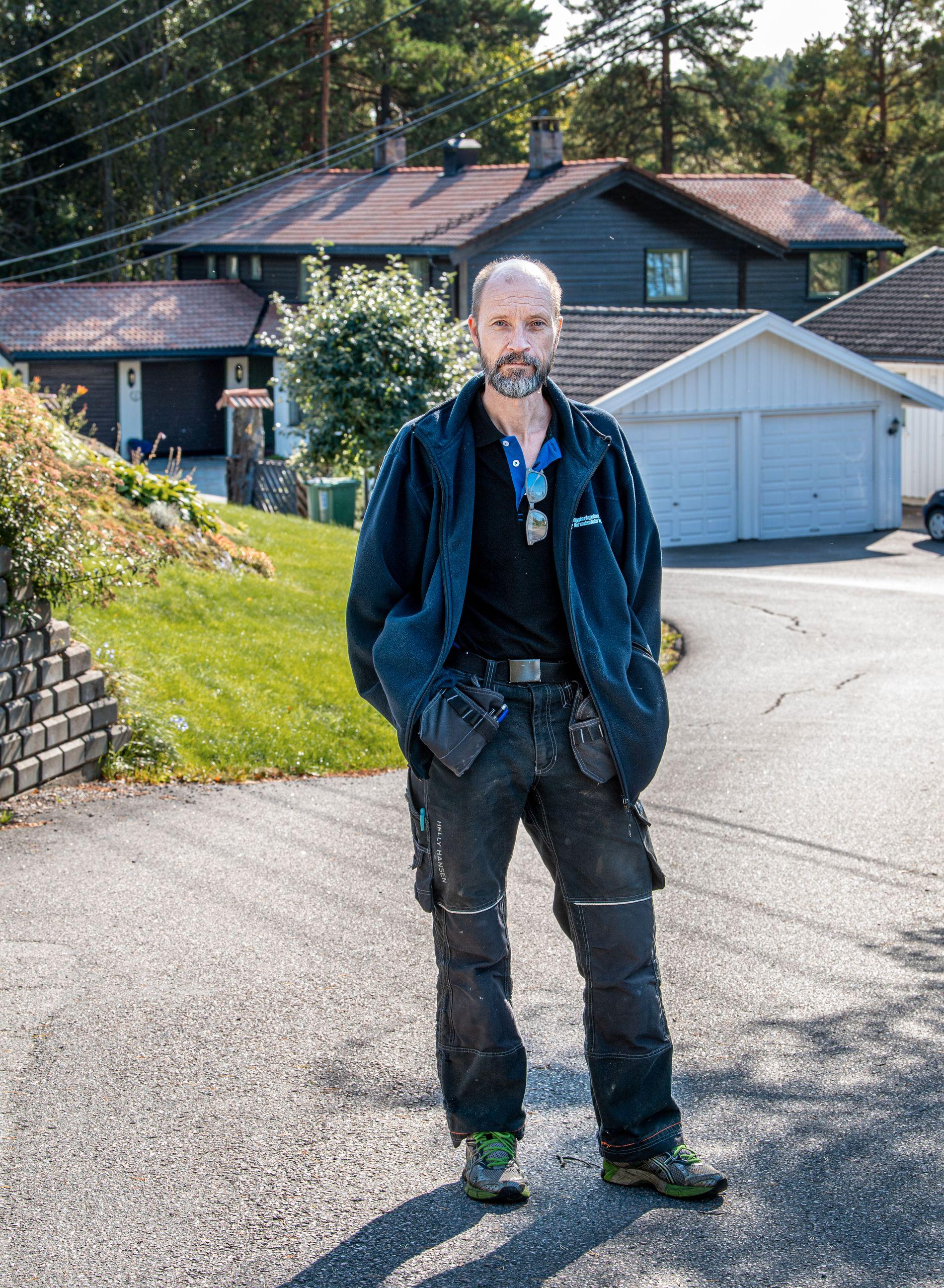 VAR I AVHØR: I avhør, kort tid etter at Anne-Elisabeth Hagen forsvant fra sitt hjem, var Tommy Skansen i avhør. Her fikk at han vite at naboen var borte.
