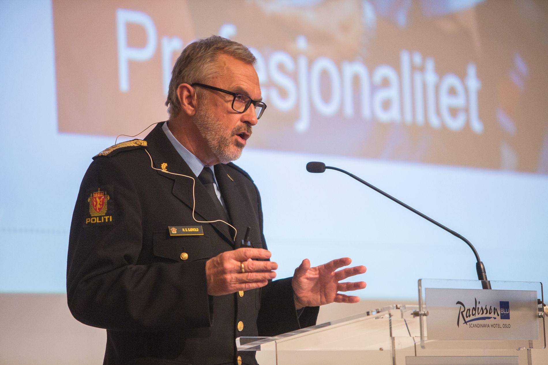 FOR BEVÆPNING: Politimester i Oslo, Hans Sverre Sjøvold. Her avbildet i en annen sammenheng i 2016. Foto: Odin Jæger, VG