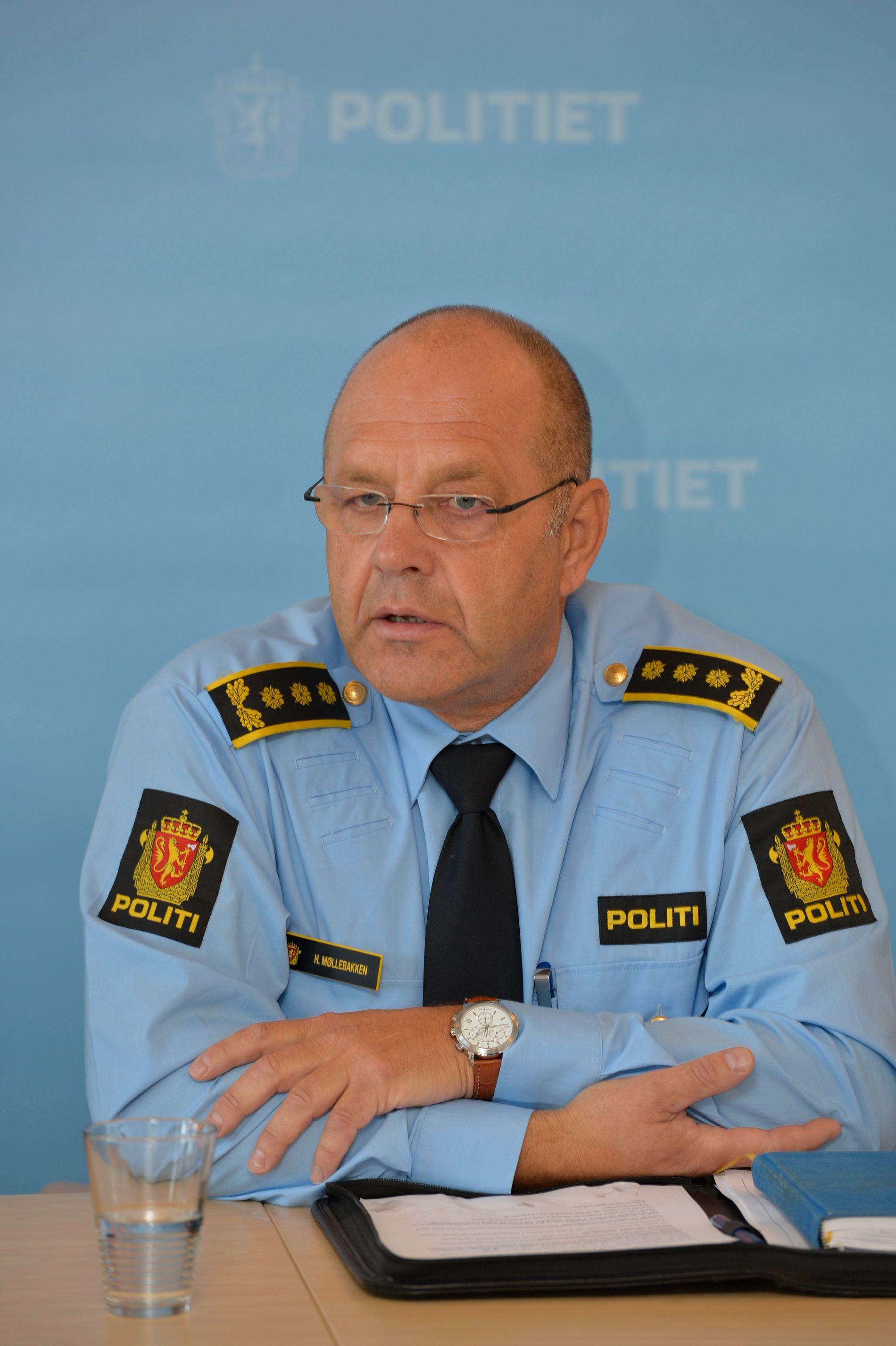 ØVERSTE LEDER: Politistasjonssjef Stasjonssjef Hans Møllerbakken.