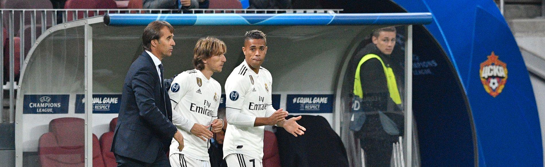 INGEN INNBYTTER-SUKSESS: Julen Lopetegui kastet inn Luka Modric og Mariano for å jakte mål, men endte med 0–1-tap.