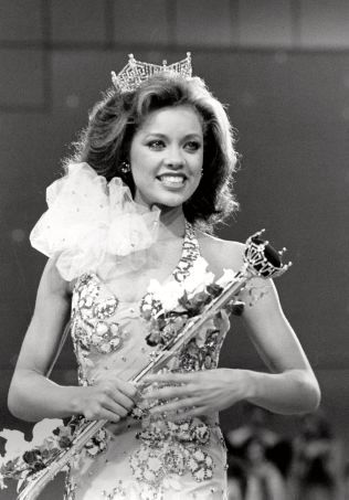 MISS: Vanessa Williams representerte New York da hun 17. september 1983 vant Miss America.