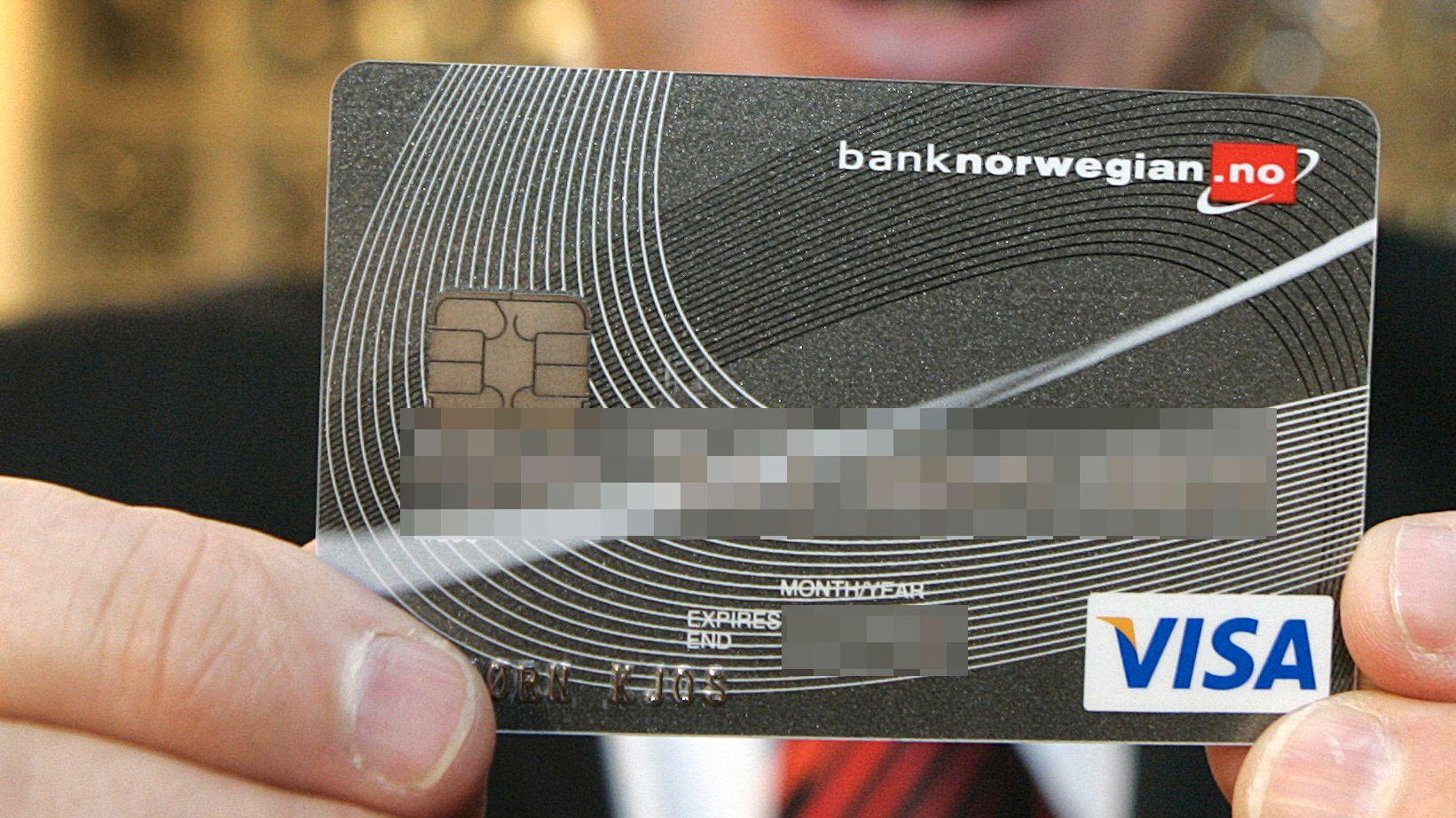 BANKSJEFEN SIER OPP: Bjørn Kjos' banksjef har levert oppsigelsesbrevet, og vil fortsette ut oppsigelsestiden. Bildet er av Kjos' eget Bank Norwegian-kort.