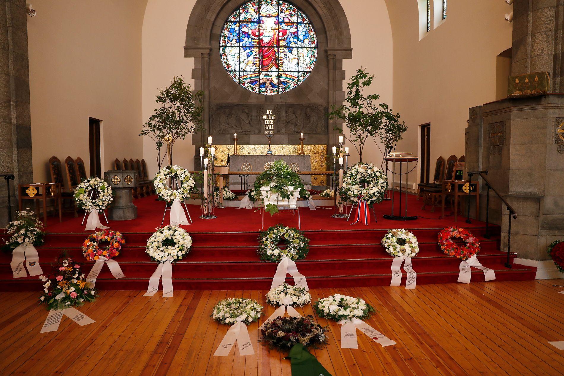BISETTES IN FROGNER CHURCH: Ingrid Espelid Hovig was 94 years old.