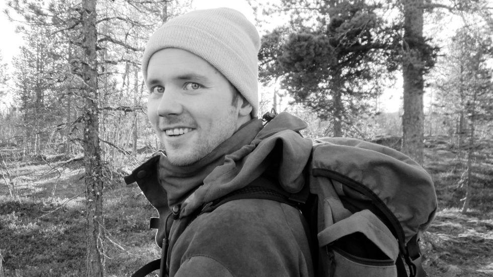 DREPT: Mads Håvard Larsen (26) ble drept under jaktulykken på Stormoen 28. februar. Dette bildet er fra en tur i Balsfjord høsten 2014. Bildet er publisert i forståelse med familien.