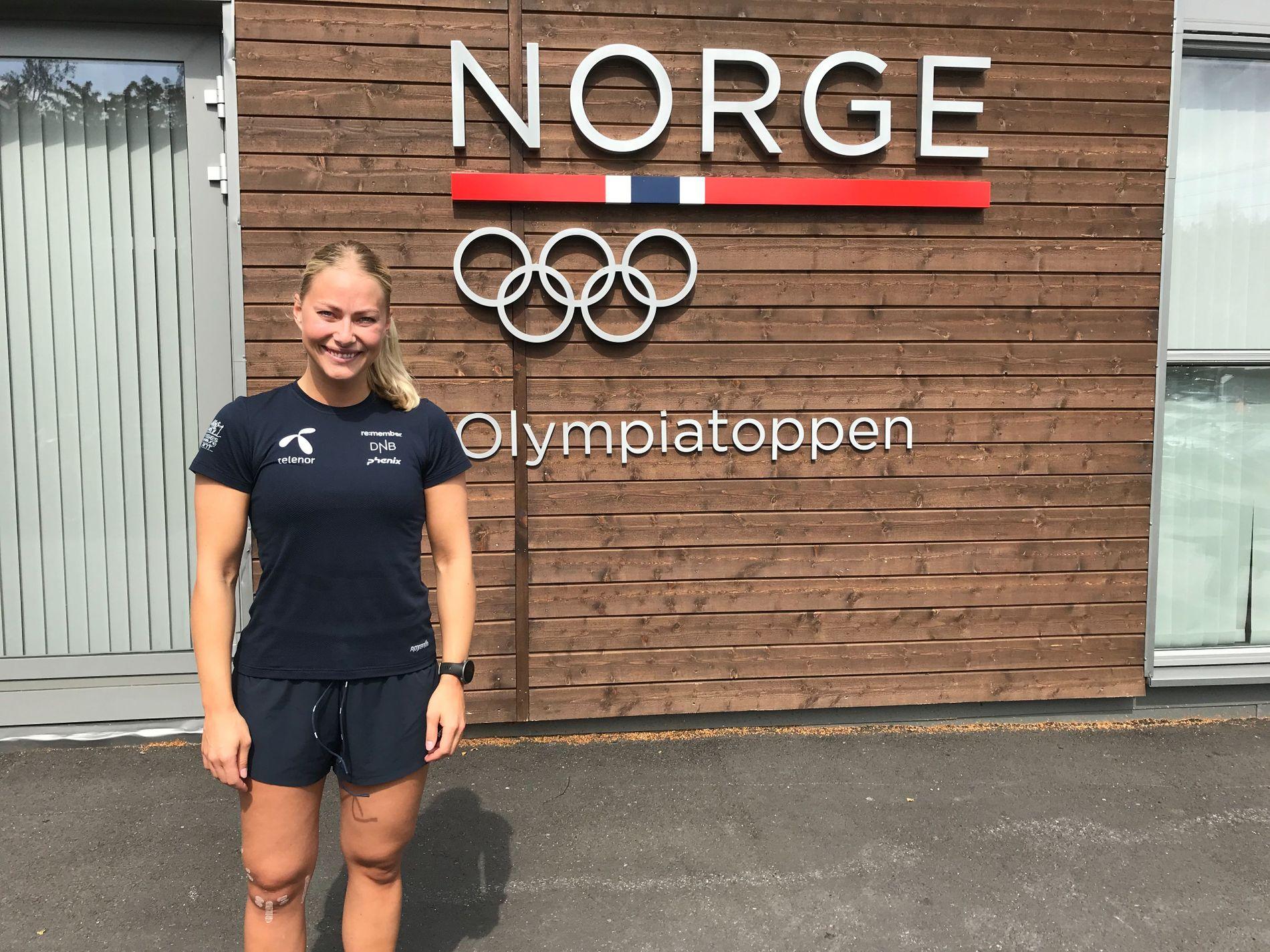 OPPTRENING: Ragnhild Mowinckel bruker mye tid på Olympiatoppen i Oslo. Hun håper å ha ski på beina igjen til vinteren.