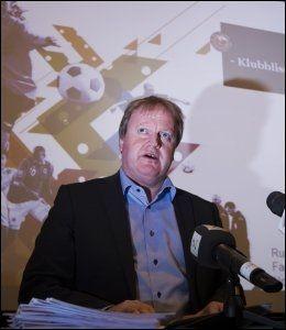 ORDKNAPP: Fotballpresident Yngve Hallén er taus om Høgmos kontraktstilbud fra Djurgården. Foto: Heiko Junge / NTB scanpix