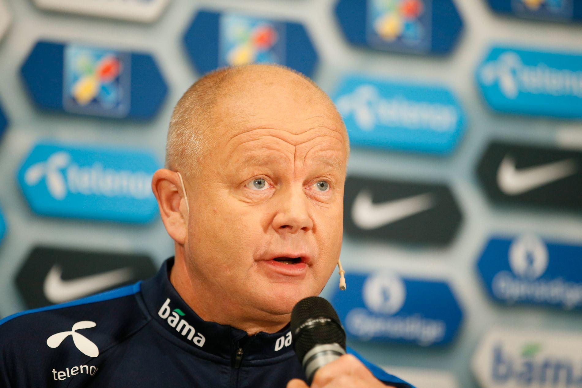 NYE MULIGHETER: Landslagssjef Per-Mathias Høgmo presenterer troppen til VM-kvalikkampene mot Aserbajdsjan 8. oktober og San Marino 11. oktober på Ullevaal.