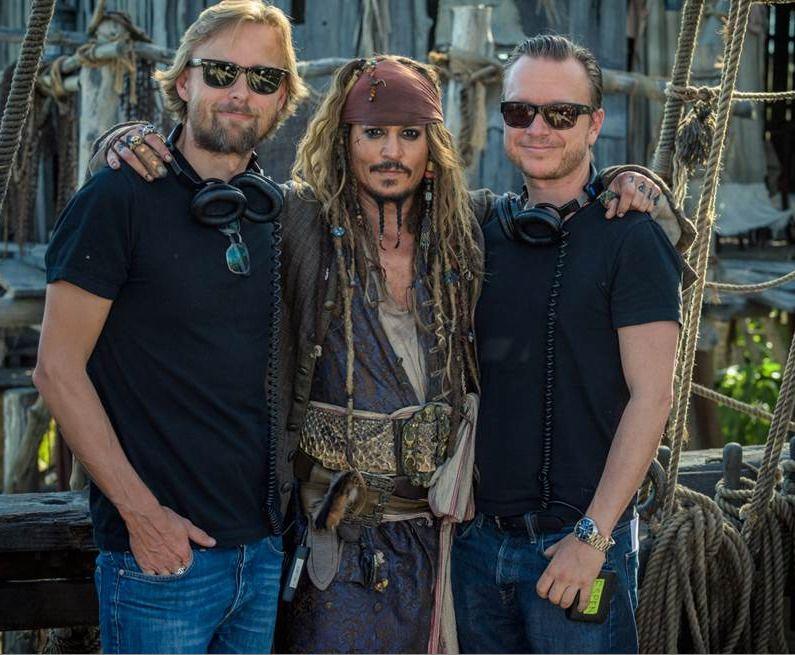 KLARE FOR SJØSETTING: Joachim Rønning, Johnny Depp og Espen Sandberg lanserer «Pirates of the Caribbean: Salazar's Revenge» i disse dager.