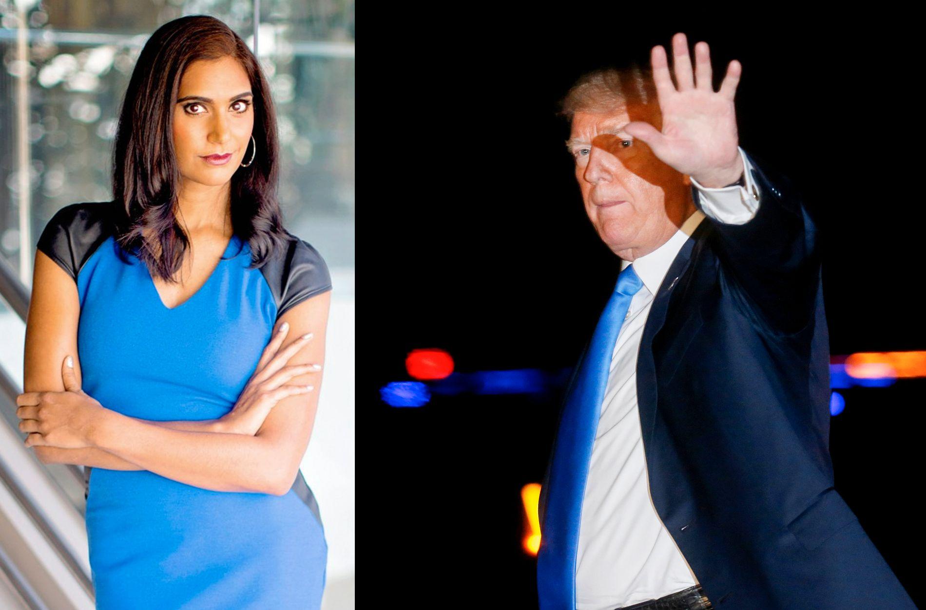 TOTAL GALSKAP: Hans egne etterretningsbyråer har slått fast, også overfor Trump, at Putin beordret et cyberangrep på oss, sier tidligere FBI-spesialagent Asha Rangappa om Trumps Putin-møte i sommer.