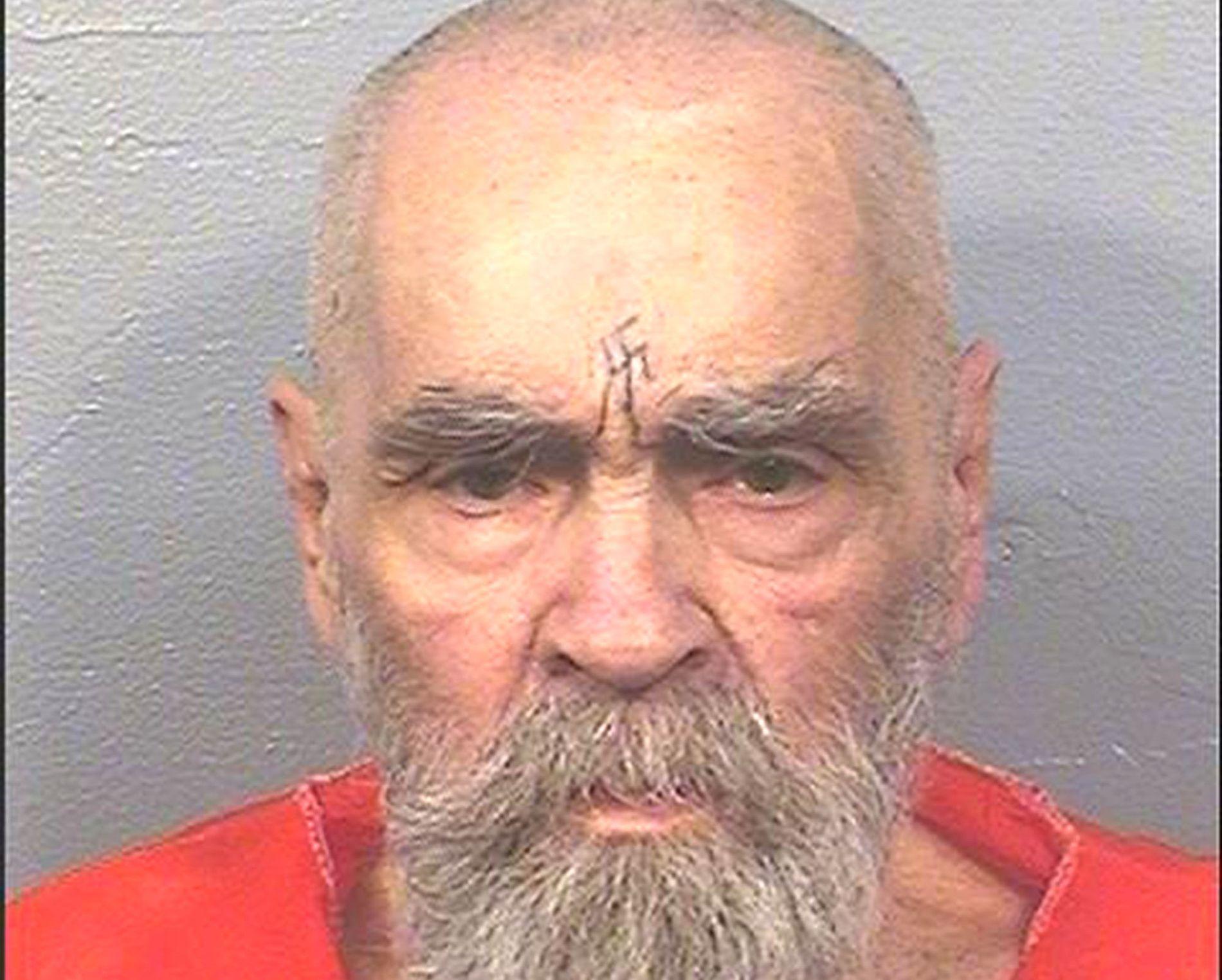 NÅ: Dette er det nyeste bildet av kultlederen Charles Manson. Her er han 82 år i et oppdatert fengselsbilde fra Californias Corcoran State prison hvor Manson soner flere livstidsdommer for medvirkning for drapene på ni mennesker i 1969.