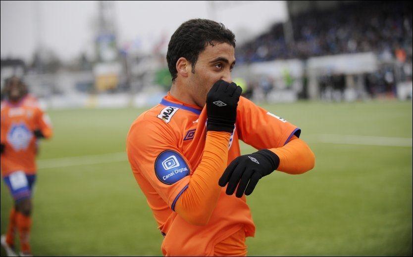 MÅLMASKIN: Abderrazaq Hamed-Allah scoret 15 mål for Aalesund på 25 kamper. Her jubler han for ett av dem mot Sarpsborg i april. Foto: Jon Olav Nesvold, NTB scanpix