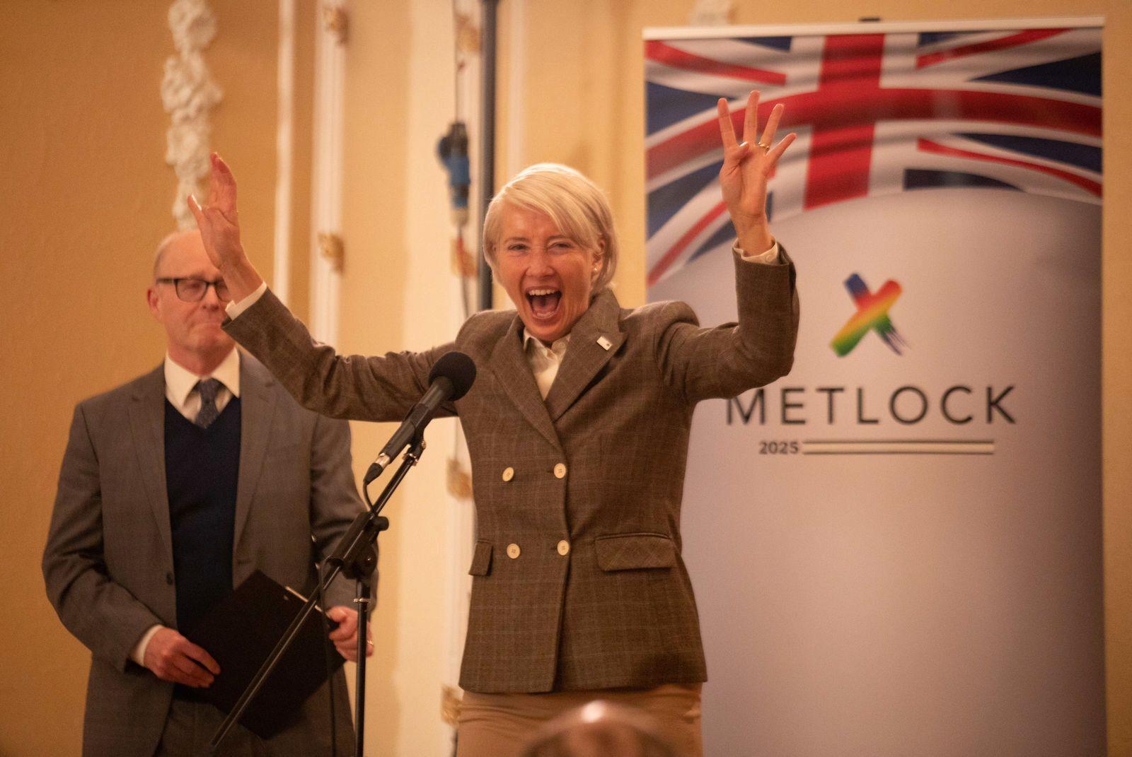 POLITIKER: Emma Thompson spiller politikeren Vivienne Rook i «Years and Years».