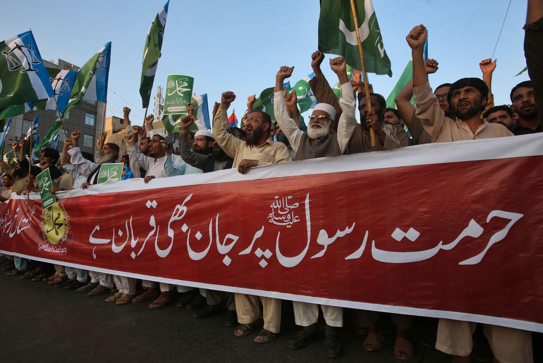 PROTESTER: Det har vært massive protester i Pakistan etter at høyesterett frikjente Asia Bibi, som var dømt til døden for blasfemi.