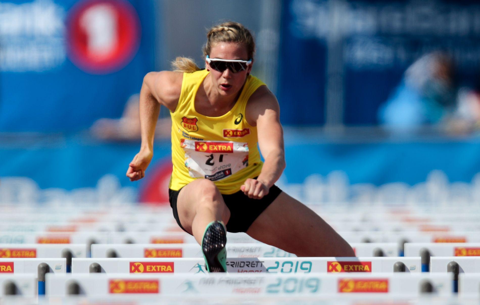 SLITER: Isabelle Pedersen tok NM-gull, men har ikke klart VM-kravet.