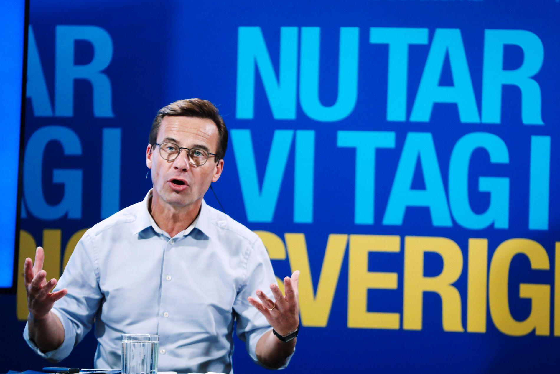 ØNSKER IKKE SAMARBEID: Konservative Moderaternas leder Ulf Kristersson avviser blankt et eventuelt samarbeid med SD.