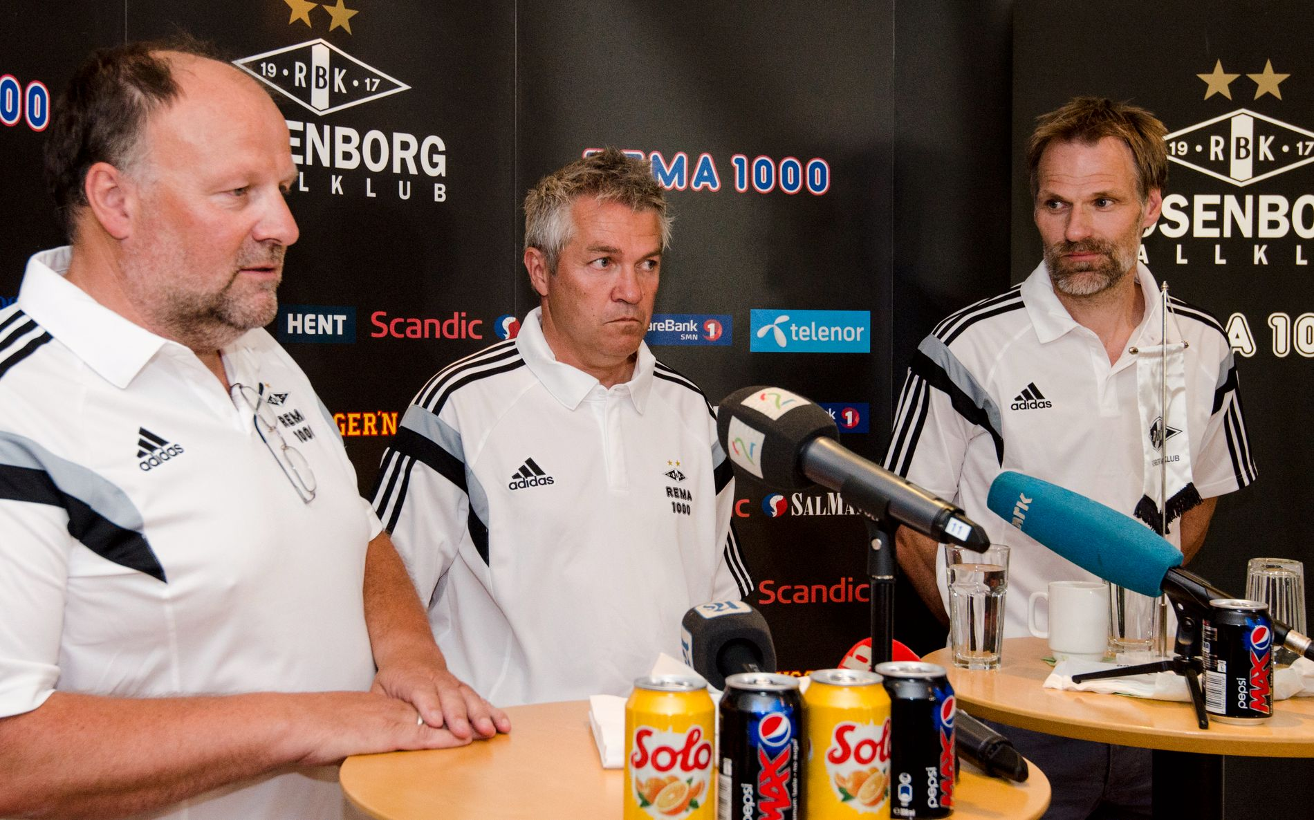 KONFLIKT: Fra venstre: Styreleder Ivar Koteng, tidligere Rosenborg-trener Kåre Ingebrigtsen og