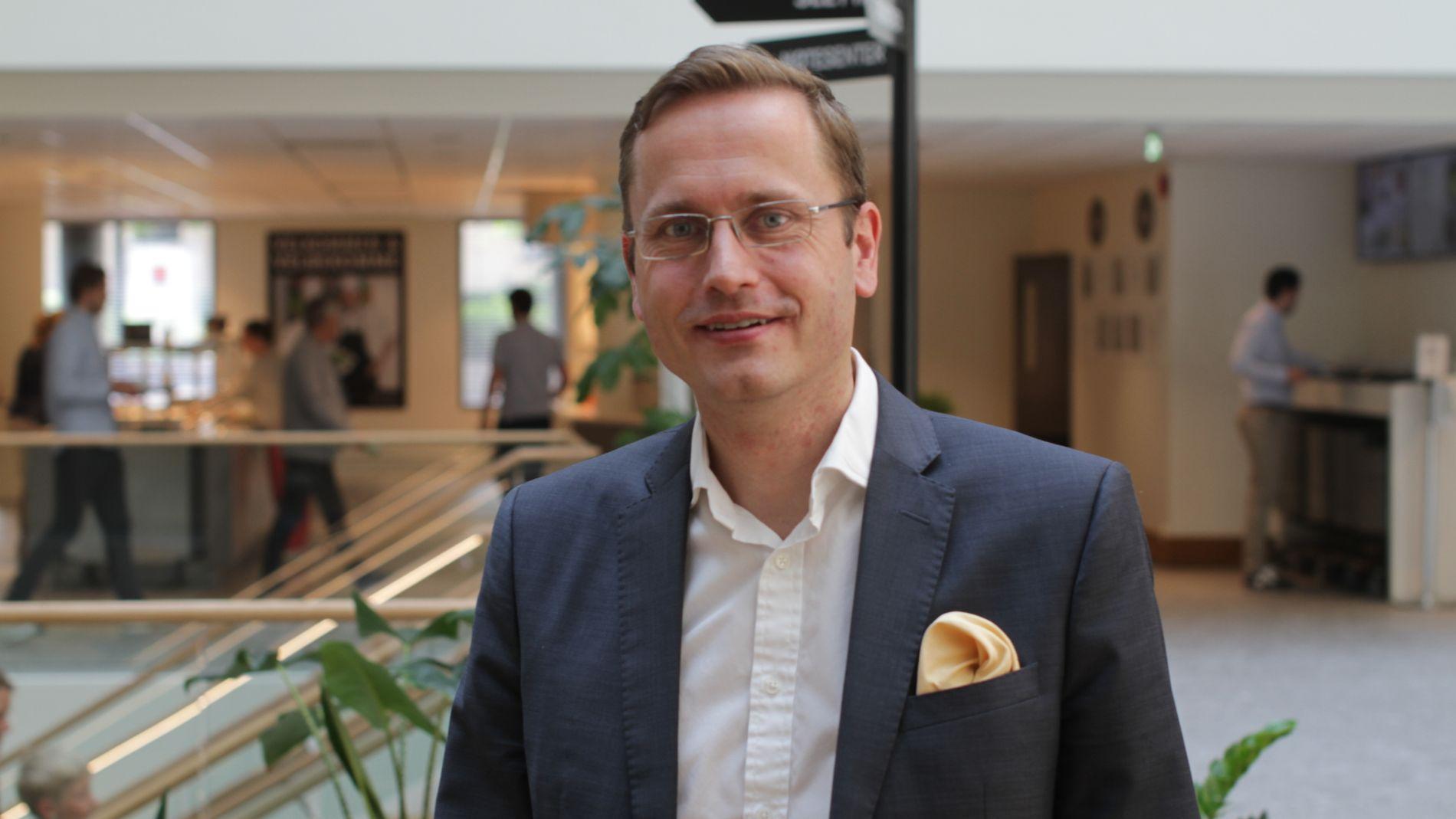 NY ALLIANSE: Snorre Storset, toppsjef i Nordea Norge, allierer seg med en annen storbank for å vinne kampen om mobilbetaling. Arkivbilde.