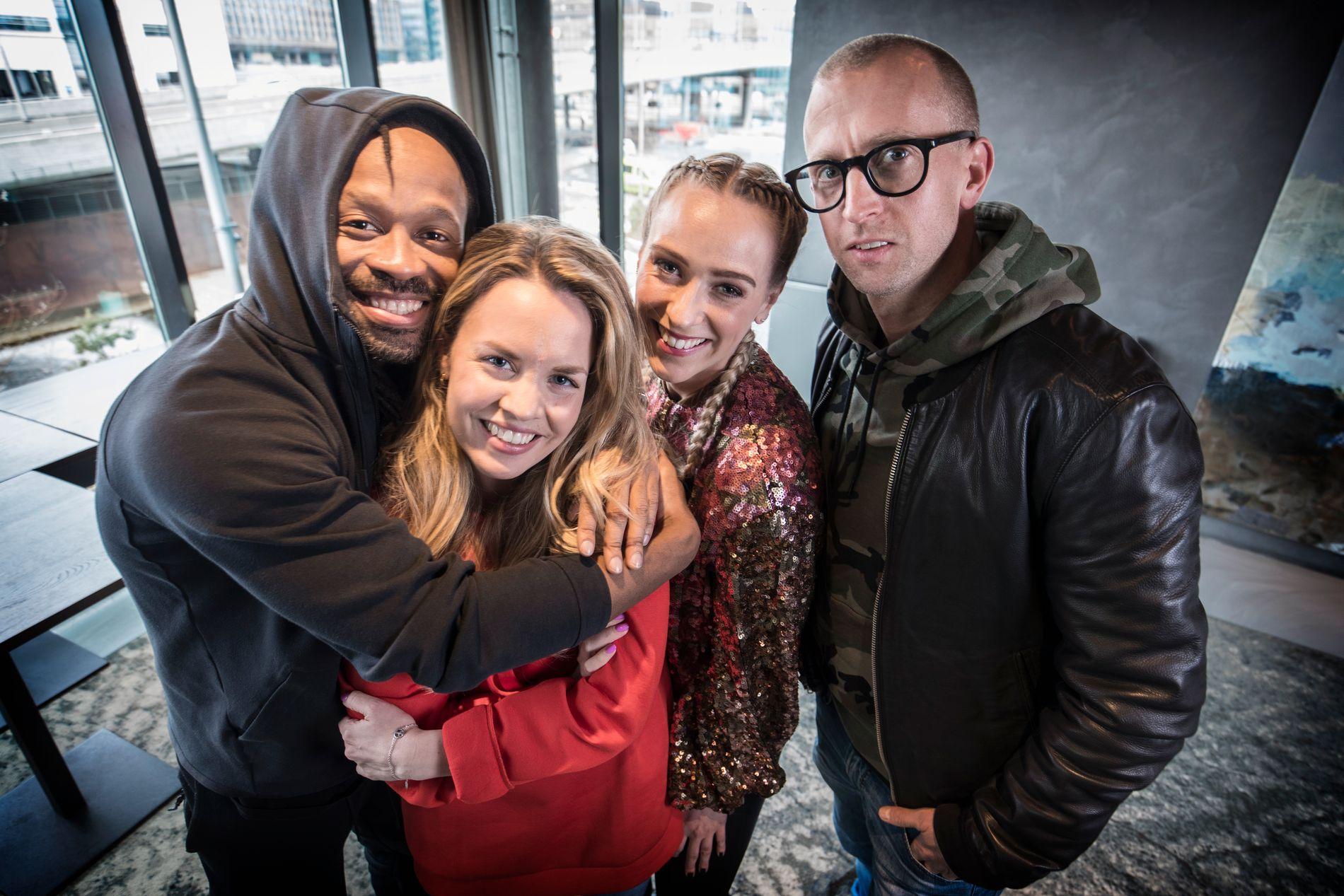 KLAR FOR SESONG TI AV «IDOL»: Disse får du se mye av i den nye sesongen av «Idol»: Fra venstre Tshawe Baqua, Silje Larsen Borgan, Katarina Flatland og Gunnar Greve.