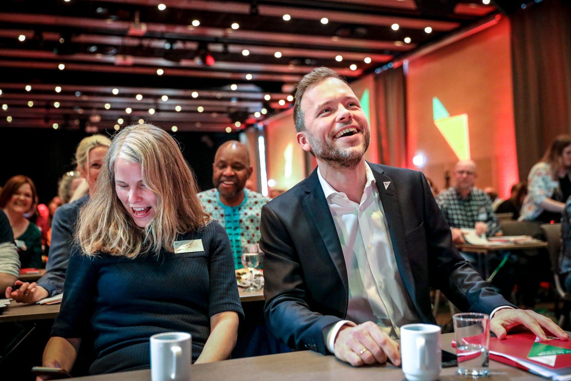 PÅ LANDSMØTE: Partileder Audun Lysbakken i SV, og nestleder og Kirsti Bergstø.