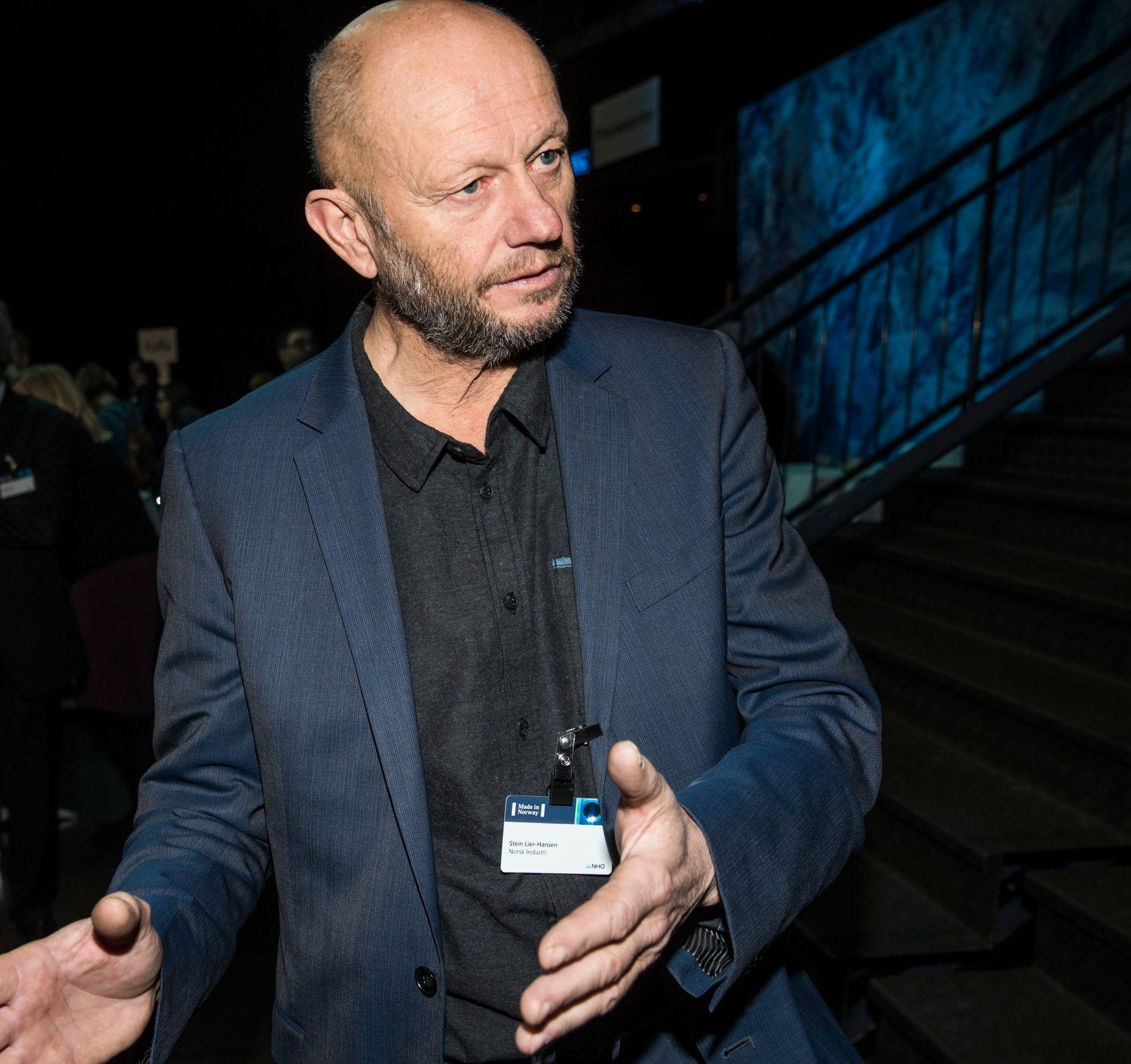 KRITISK: Leder Stein Lier-Hansen i Norsk Industri.
