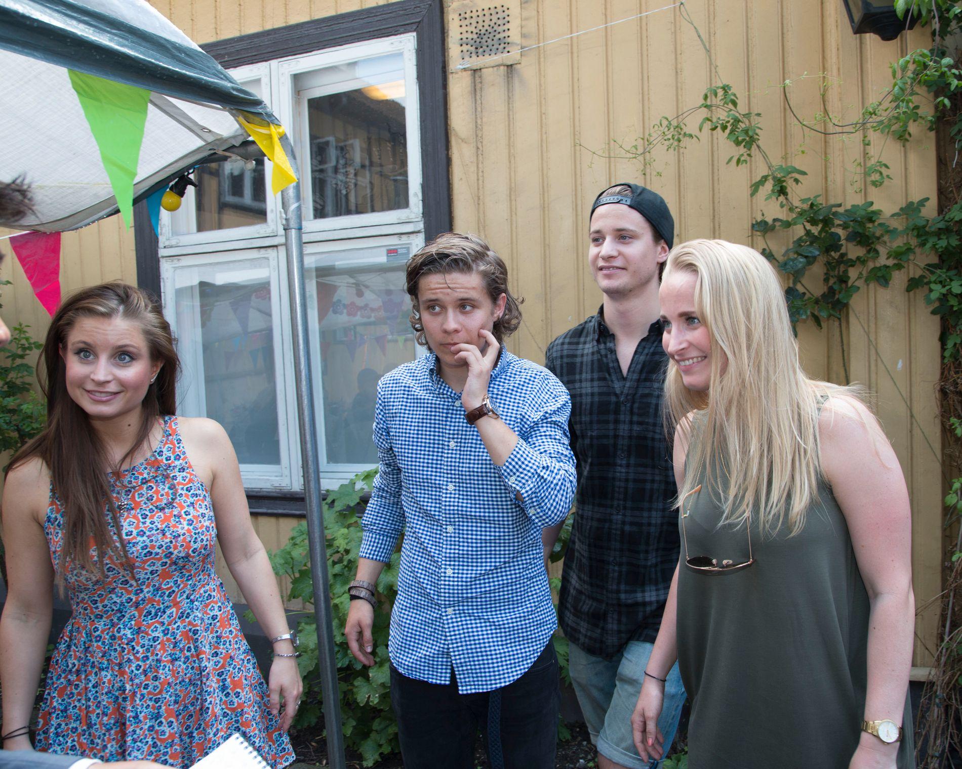 FAMILIEN VAR MED: Kygo og søsknene Jenny (t.v.), Sondre og Johanne Gørvell-Dahll. Foto: GEIR OLSEN