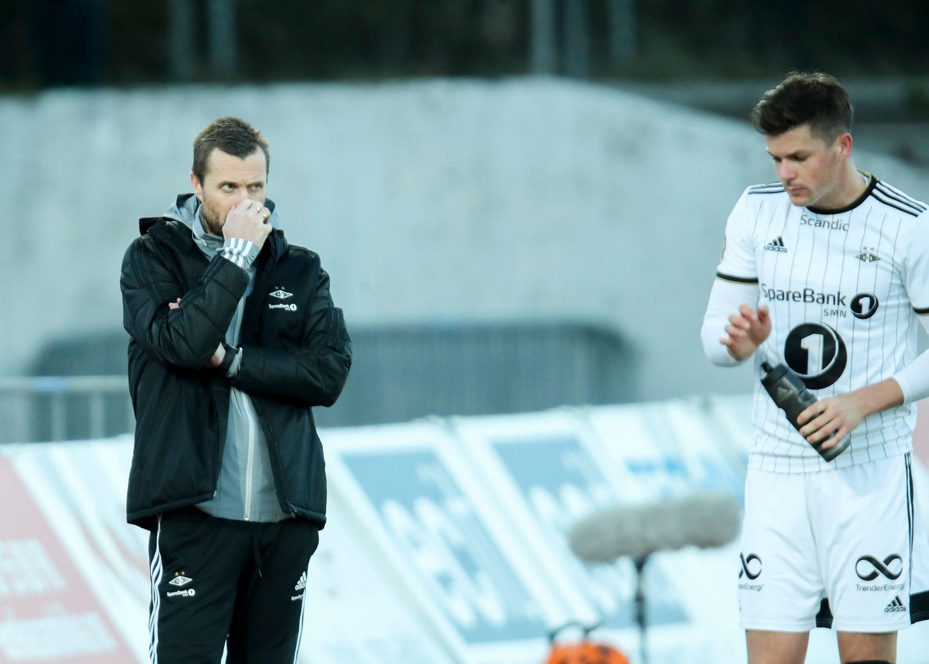 PÅ HVER SIN SIDE: Eirik Horneland og Pål André Helland mot Stabæk i april.