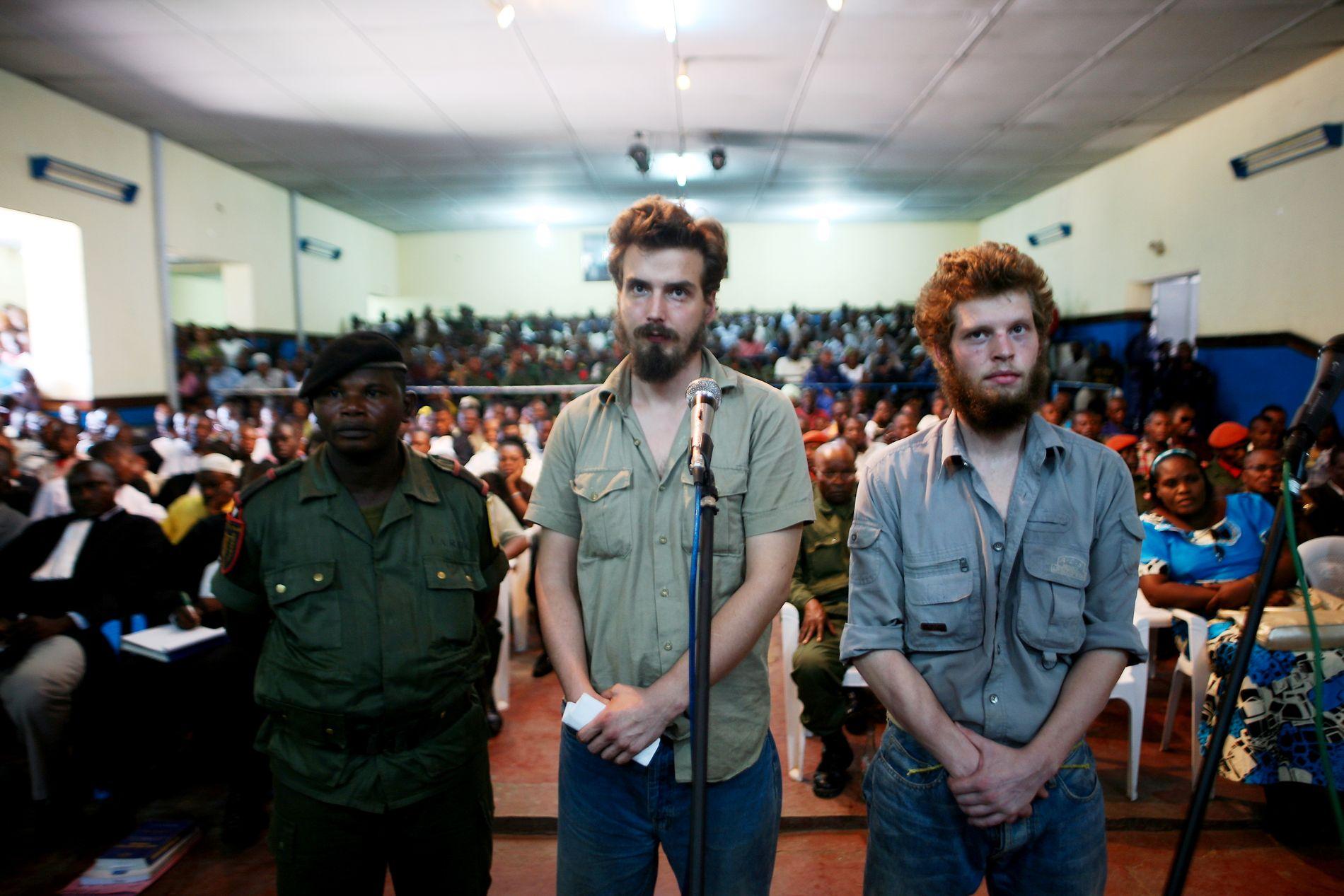 RETTSSAK: De to nordmennene måtte møte i retten i Kisangani i Kongo sommeren 2009.