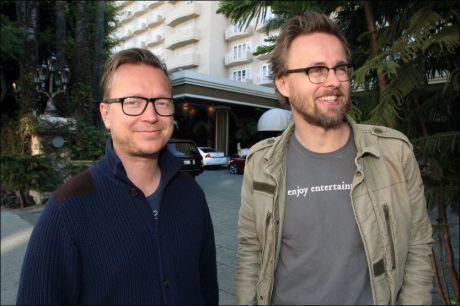 GODT SELSKAP: De to norske regissørene Joachim Rønning og Espen Sandberg er invitert til å bli medlemmer i Oscar-akademiet. Foto: ANDREAS IHLEBÆK