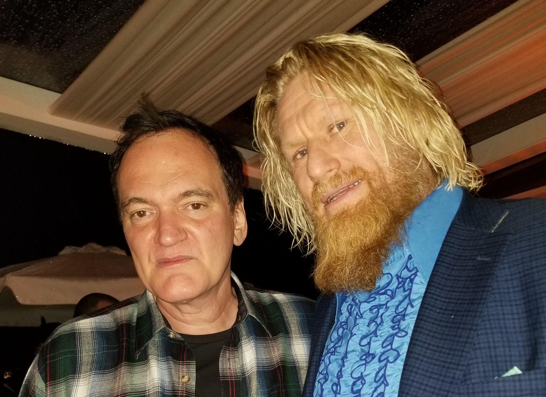 STJERNEMØTE: Rune Temte fikk en prat med Quentin Tarantino på filmfestivalen i Cannes, der Tarantino er med i hovedprogrammet. De to har så langt ikke jobbet sammen.