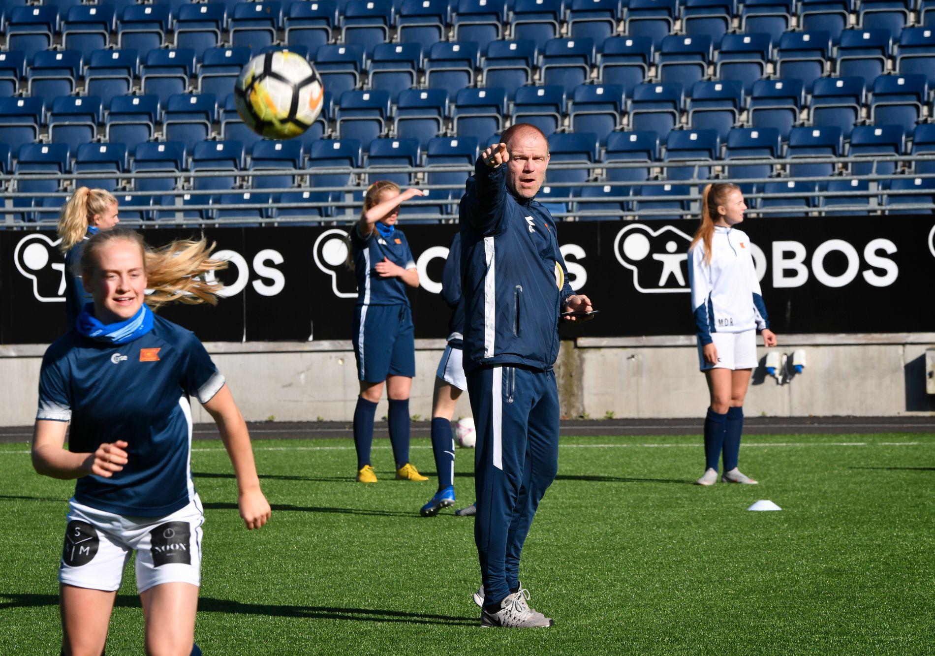 ENGASJERT: Egil Østenstad i aksjon under Viking-treningen.