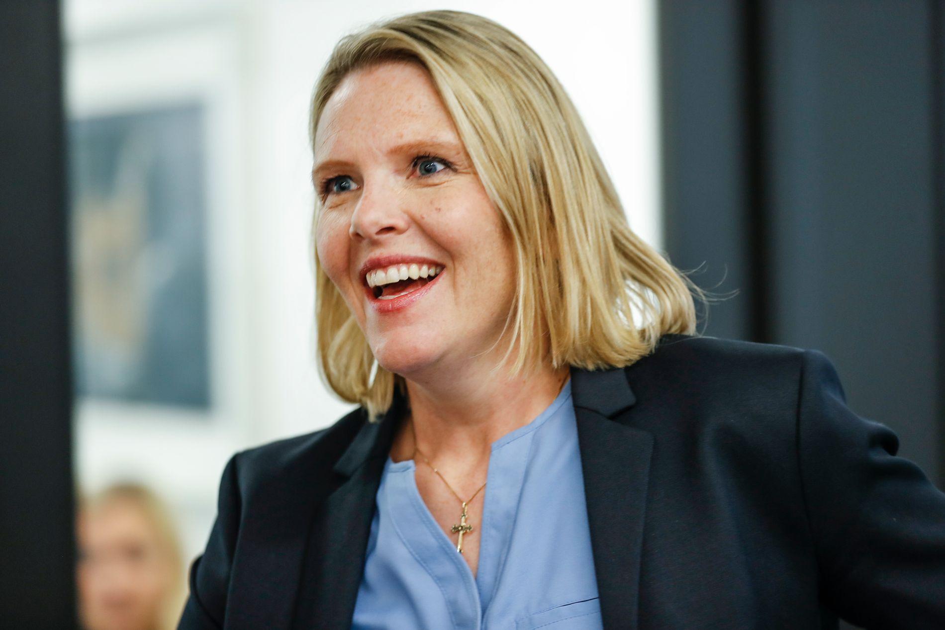 FORHANDLINGSTEMA: Frp-statsråd Sylvi Listhaugs fremtid er allerede blitt forhandlingstema ute i de potensielle regjeringspartiene Venstre og KrF før det andre møtet mellom partilederne kommende torsdag.