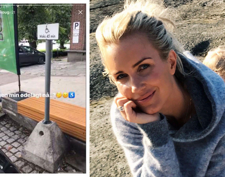 FÅR PEPPER: Stylist og moteblogger Hedda Skoug la ut denne posten på instastory fredag.