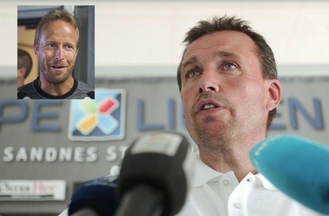 INN - UT: Tom Nordlie ble denne uken ansatt for å redde Tippeliga-plassen til Sandnes Ulf. Asle Andersen ble sparket etter å ha vært den treneren som har sittet lengst blant årets trenere i øverste divisjon. Foto: Scanpix