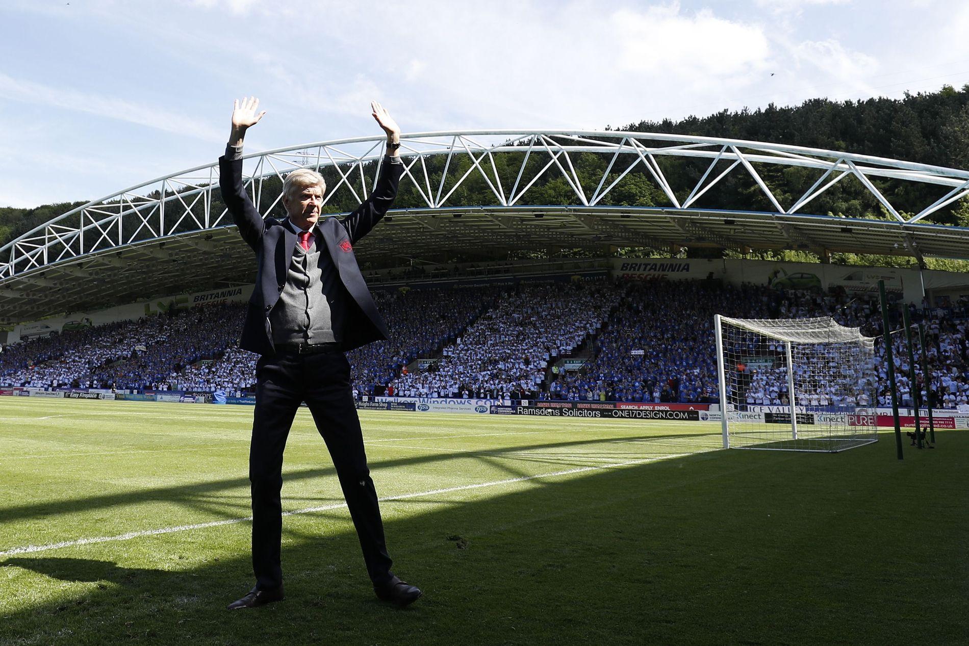 TAKK OG FARVEL: Arsène Wenger er etter 22 år, ferdig som Arsenal-manager.