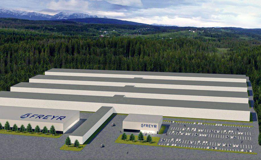 GIGAFABRIKK: Freyr planlegger å bygge en batterifabrikk i Mo i Rana som kan lage batterier til 600.000 biler i året.