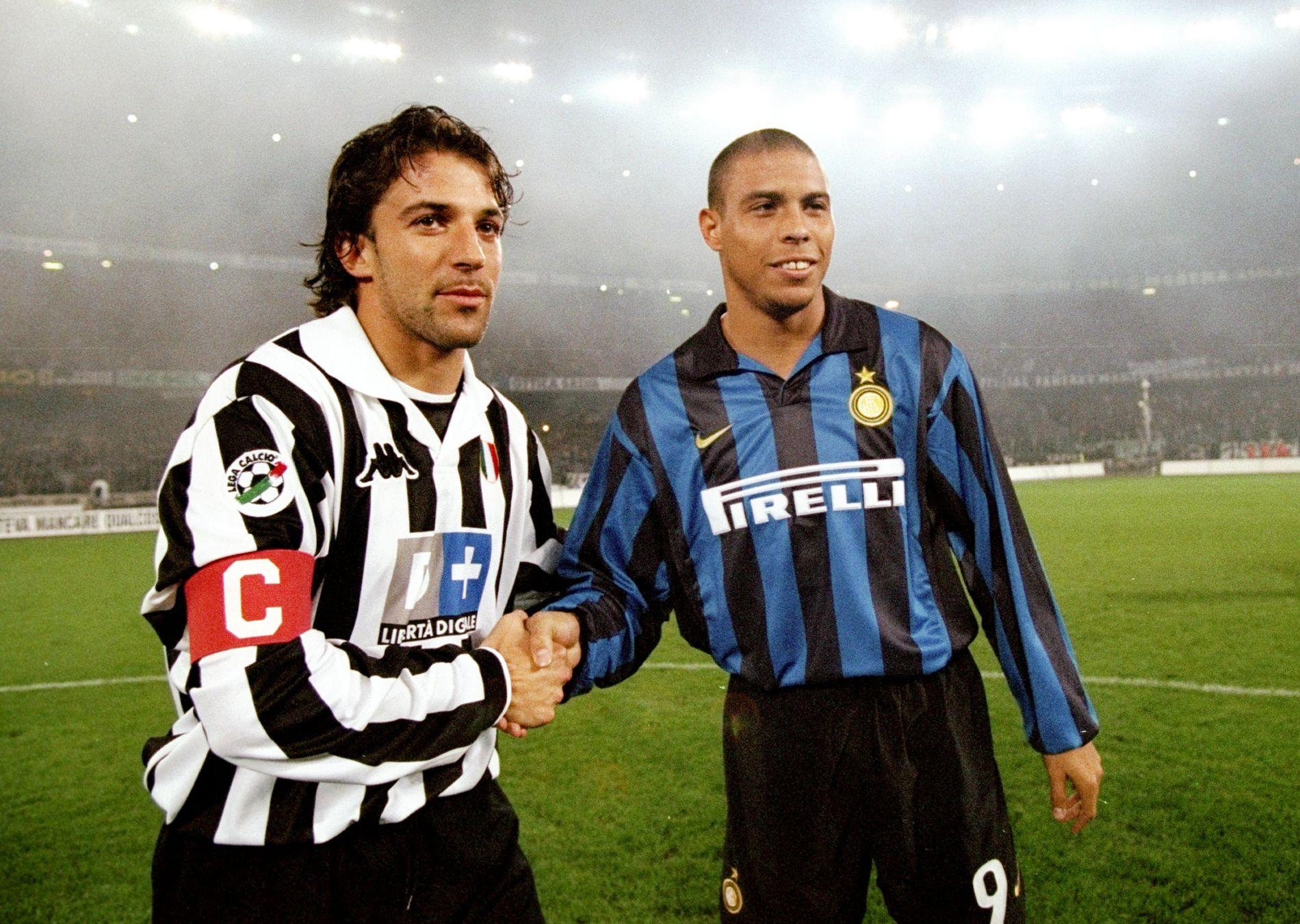 GENTLEMEN: Alessandro del Piero og Ronaldo – fenomenet – er idoler på hver sin side av Derby d'Italia.
