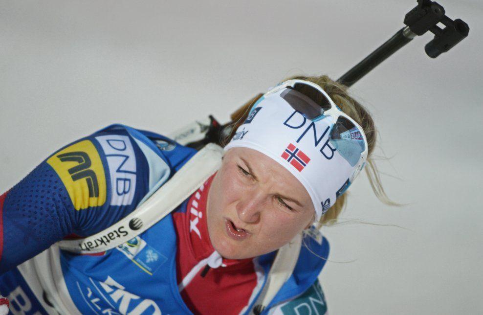 BEST AV DE NORSKE: Marte Olsbu skjøt ti av ti treff, og gikk et løp som holdt til en råsterk plassering i Pokljuka.