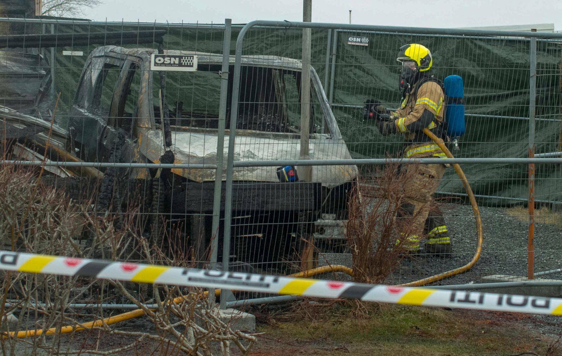 DØDSBRANN: En familie på tre omkom i en campingvognbrann på campingplassen Sokn utenfor Rogaland lørdag. Brannårsaken er foreløpig ikke kjent.