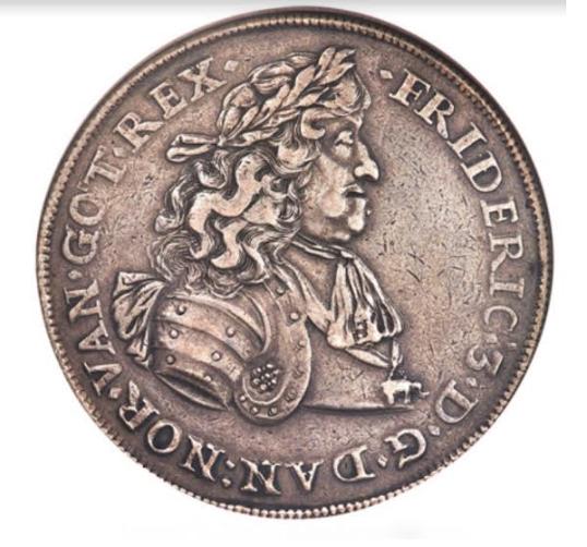 SLIK SER DEN UT: Denne mynten, kjøpt av Gunnar Thesen, kostet 3,45 millioner.