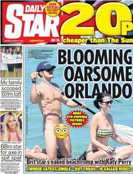 VAKTE OPPSIKT: Bare det aller helligste var sladdet av en emoji på bilder av en naken Orlando Bloom på padletur.